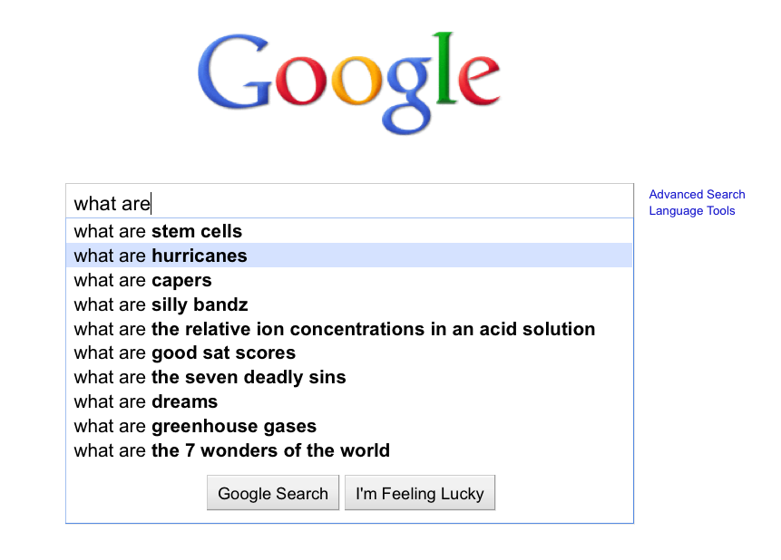 Google Suggest optimization |